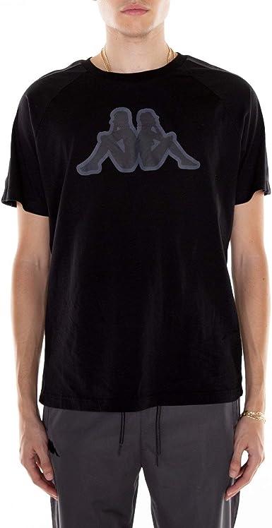 Para hombre Kappa Cinta Blanca Mangas Cortas Escote Redondo Camiseta Tee Shirt Top