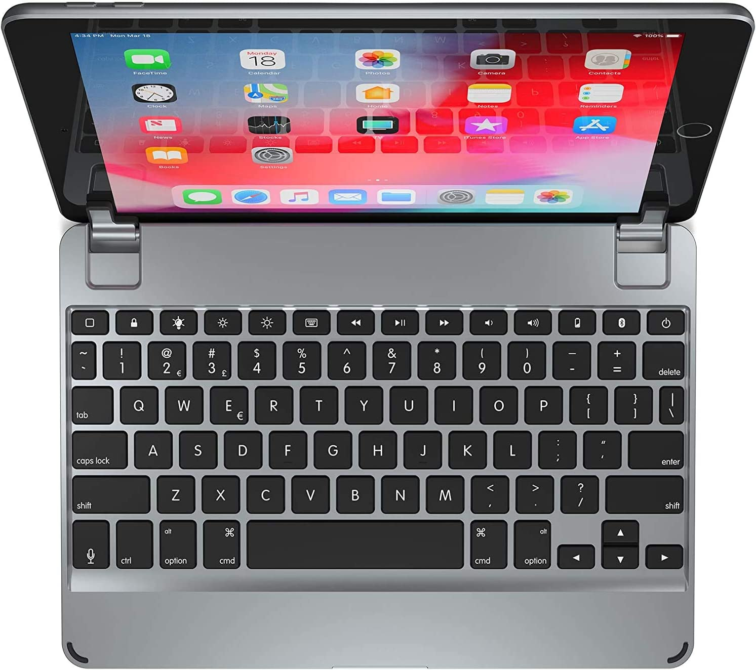 Brydge 9.7 iPad Keyboard | Aluminum Bluetooth Keyboard for 9.7 inch iPad (6th Gen), 5th Gen iPad (2017), iPad Pro 9.7 inch, iPad Air 1 and iPad Air 2 (Space Gray)