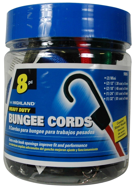 8 piece 9009600 Bungee Cord Assortment Jar Highland