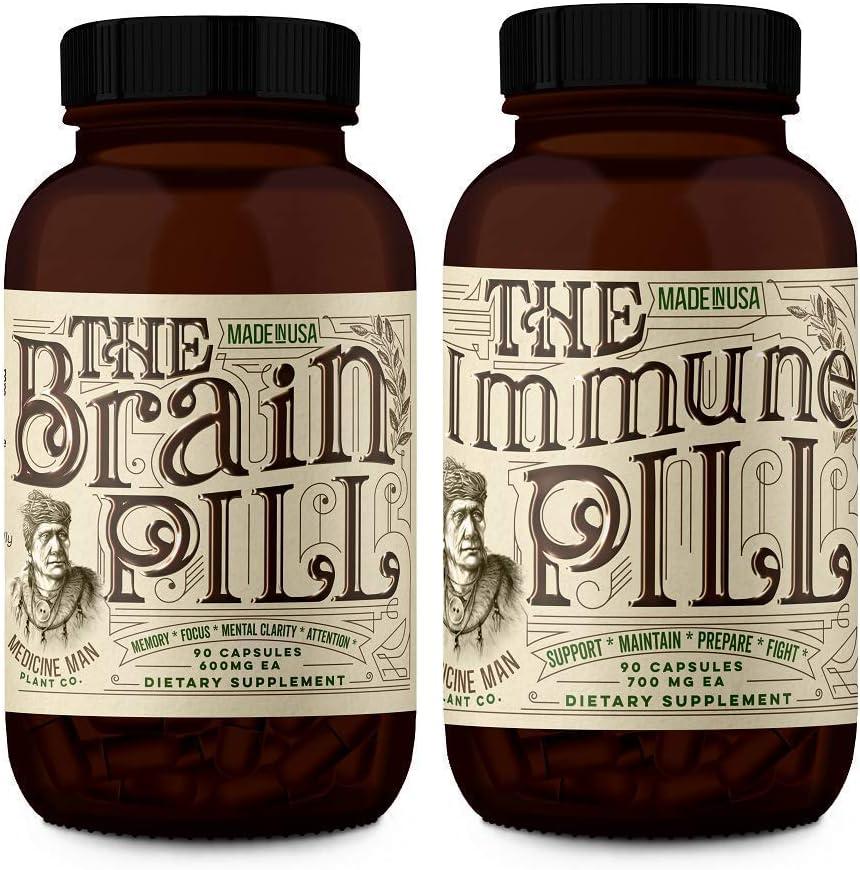 Medicine Man Plant Co. - The Teacher/Student Power Bundle - Brain & Immune Pills - 30 Day Supply