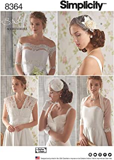 product image for Simplicity US8364H5 Women's Fascinator, Hat, and Coverup Bridal Wear Sewing Patterns, Sizes 6-14