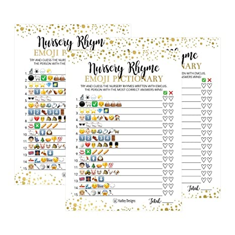 photograph regarding Printable Pictionary Cards known as 25 Emoji Nursery Rhyme Kid Shower Recreation Bash Recommendations For Pictionary Quiz, Boys Women of all ages Children Adult men Girls and Partners, Adorable Clic Package deal Pack Established Gold Purple