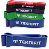 Teknifit Power Resistance Bands | Premium Assisted Pull Up Bands | Heavy, Highly Versatile | Range of Strength Levels for Full Body Workout | Complete All Over Training Solution | FREE Exercise Guide