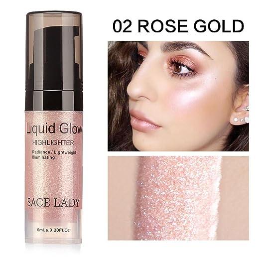 130489b68985 MChoice Liquid Glow Highlighter Lip Foundation Makeup Shimmer Cream Facial  Bronzer Contour Cosmetic