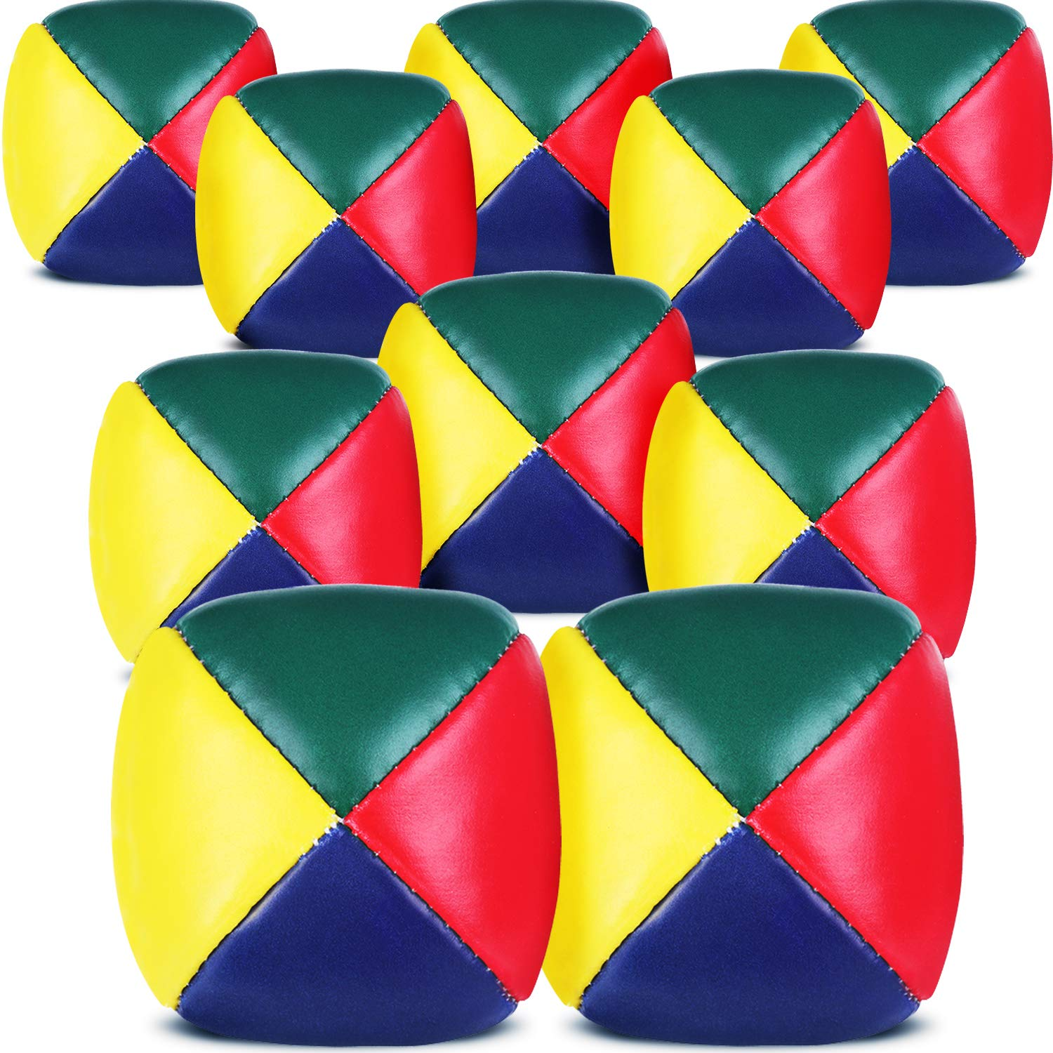 Patelai Juggling Balls Set for Beginners, Quality Mini Juggling Balls, Durable Juggle Ball Kit, Soft Easy Juggle Balls for Boys Girls and Adults, Multicolored (10 Packs) by Patelai (Image #1)