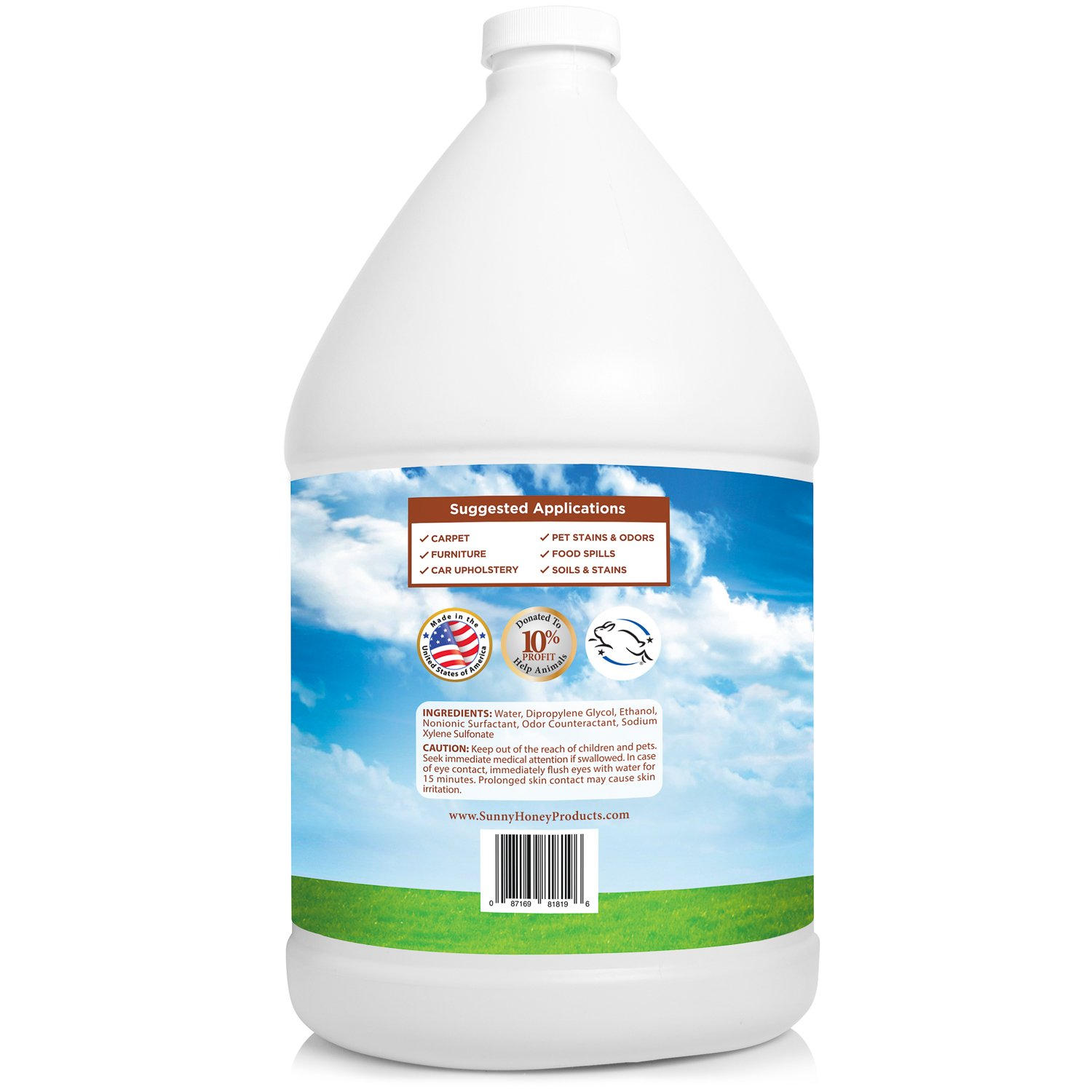Carpet Miracle - Concentrated Machine Shampoo, Deep Stain and Odor Remover Solution, Deodorizing Formula (1 Gallon) by Sunny & Honey (Image #2)