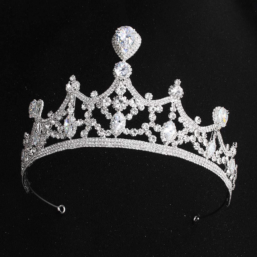 Shelley Commerce Schmuckanthony vintage baroque Diad/ème Couronne de concours de beaut/é Princesse Reine Couronne Strass Bandeau pour mari/ée et Demoiselle dhonneur f/ête de mariage