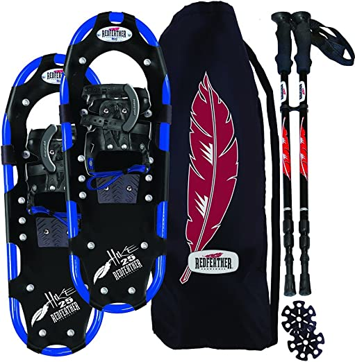 RedFeather Men s Hike Recreational Series Snowshoe Kit with SV2 Bindings, Ski Poles and Carry Bag -1500