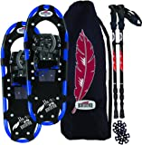 RedFeather Men's Hike Recreational Series Snowshoe Kit with SV2 Bindings, Ski Poles and Carry Bag -1500