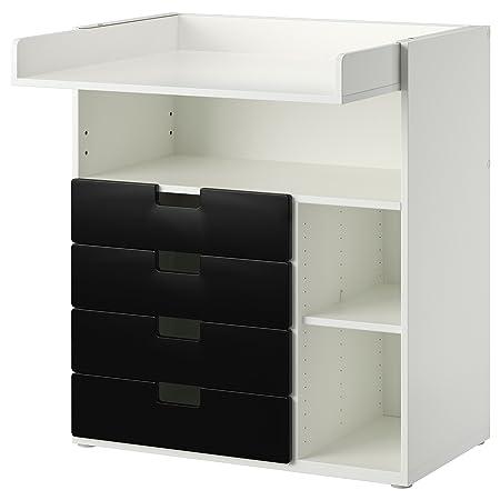 IKEA STUVA - Cambio de mesa con 4 cajones Blanco / negro 2 Pack ...