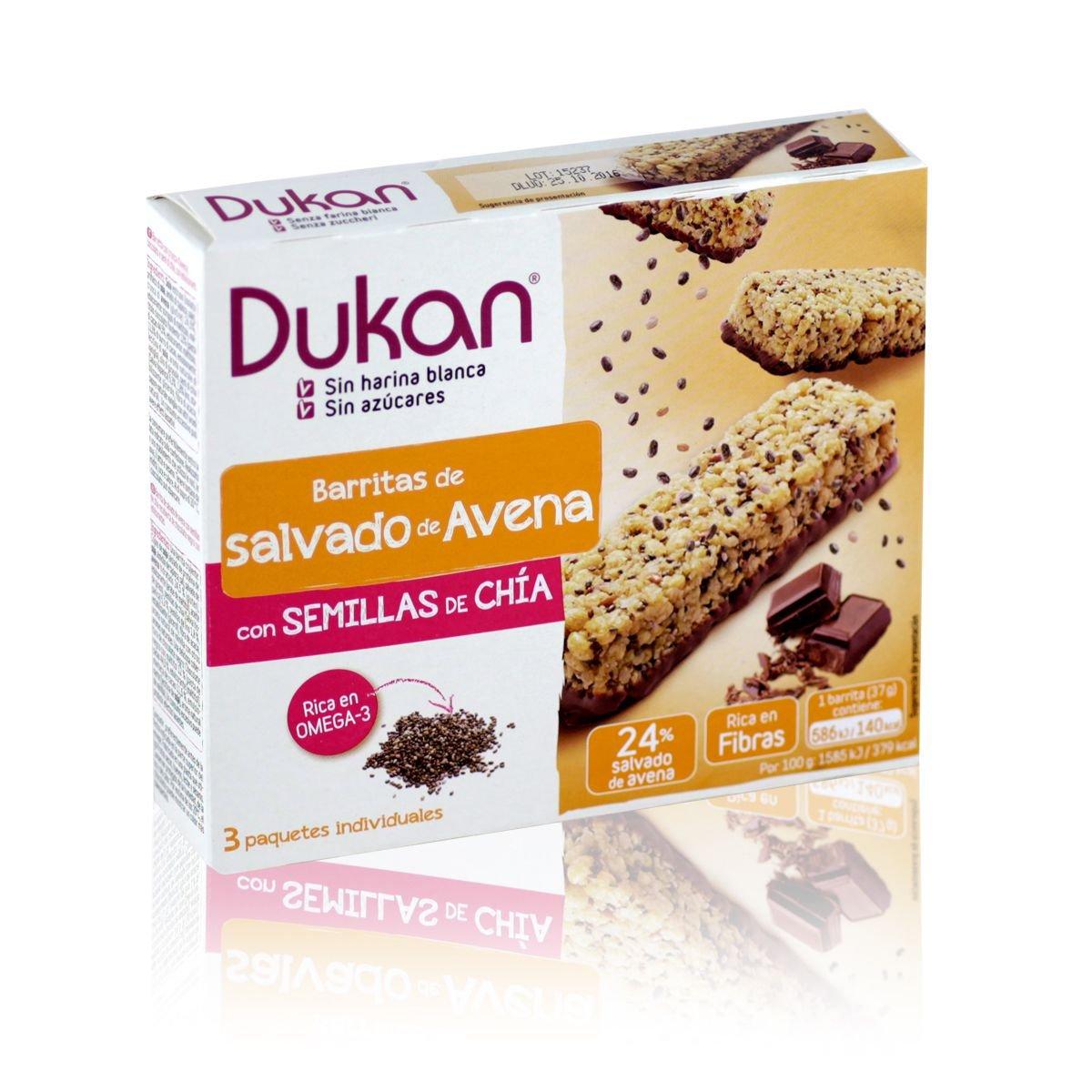 Amazon.com: Dukan Oat Bars At Bran DAi Chia Seeds 3 Pieces ...