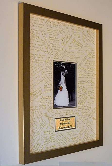 Personalised Wedding Guest Book Frame - LARGE - Contemporary ...