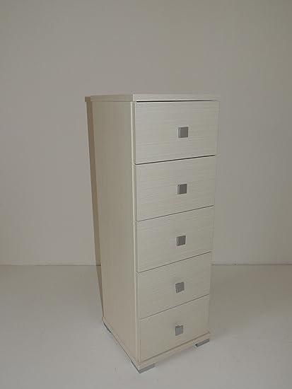 Mueble cajonera Baby 5 cajones madera color roble blanqueado ...