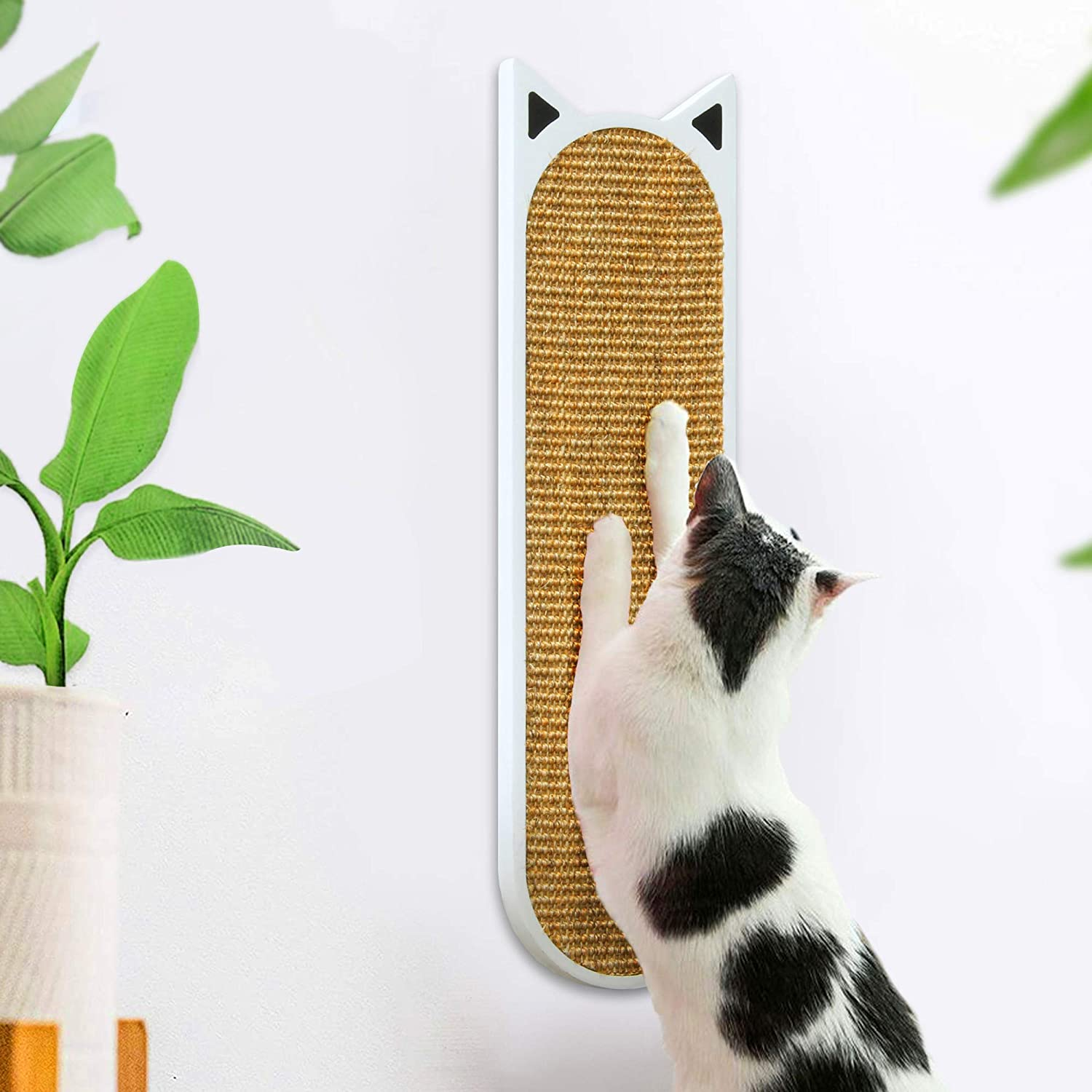 THUNDESK Cat Scratching Post Wall Mounted Cat Scratcher for Improving Kitty's Health and Behavior Cat Scratch for Wall or Floor