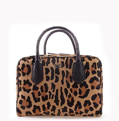 24bfb5e2c947 Prada Cheetah Pattern Cavallino Leather Inside Bag Tote Handbag ...