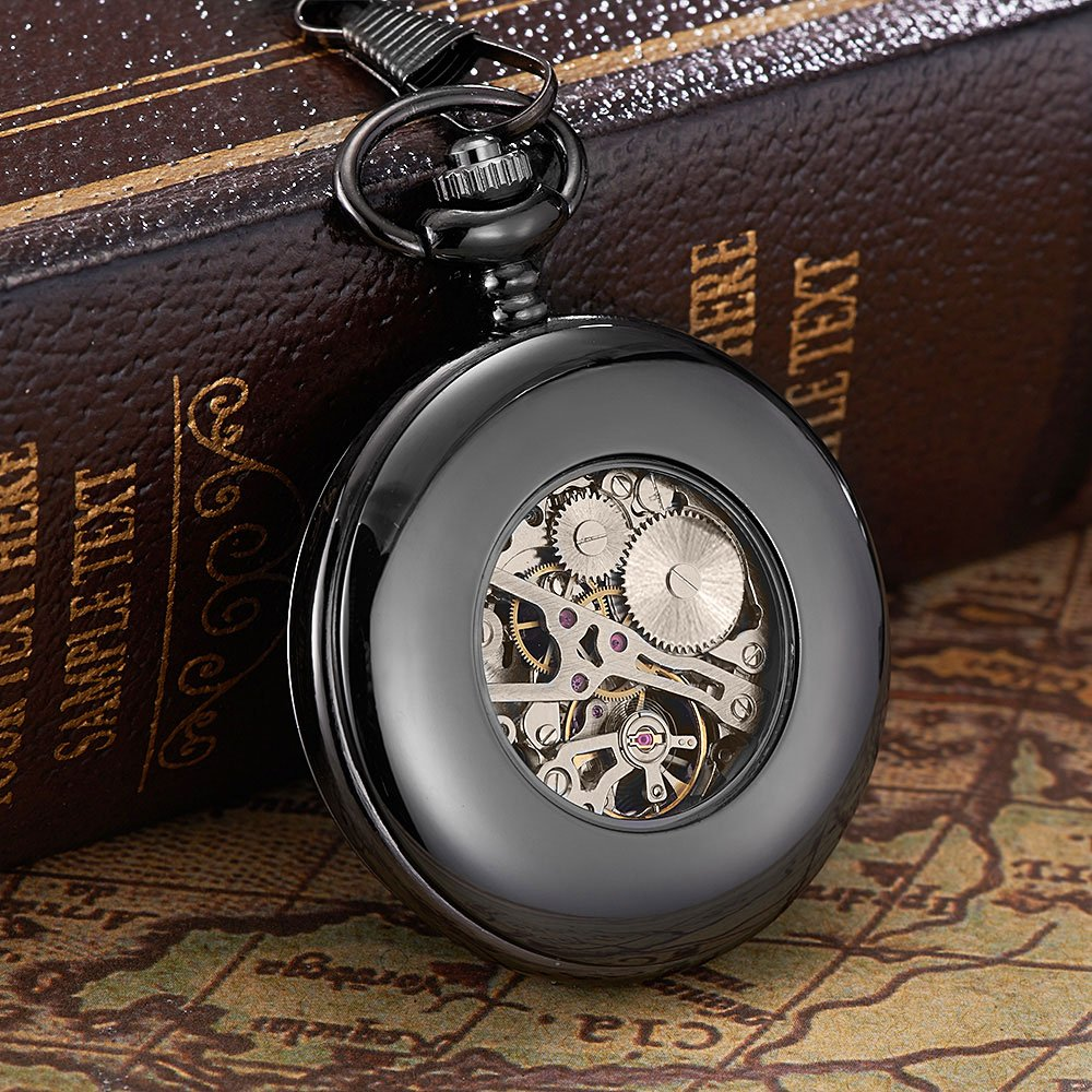 To My Son Love Dad Pocket Watch for Son Gifts from Dad (Love Dad Black Mechanical Pocket Watch) by Ginasy (Image #6)