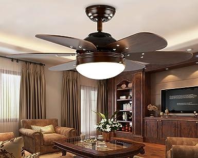 sdkky antigüedad Ventilador de techo LED, restaurante Fan – Lámpara de techo, pequeño Salón habitaciones Moderno Minimalista Home mando a distancia Ventilador de techo: Amazon.es: Iluminación