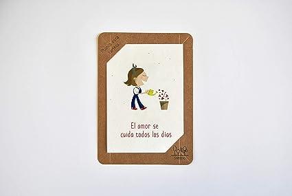 Tarjeta de felicitación original de Papel con semillas ...