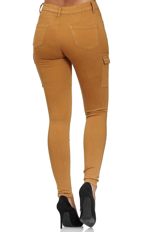 Elara Damen Cargo Jeans Chunkyrayan