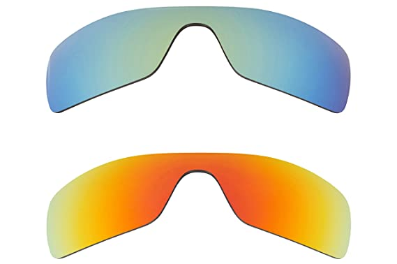 bf9046097e Image Unavailable. Image not available for. Color  Batwolf Replacement  Lenses Polarized Red   Green by SEEK fits OAKLEY Sunglasses