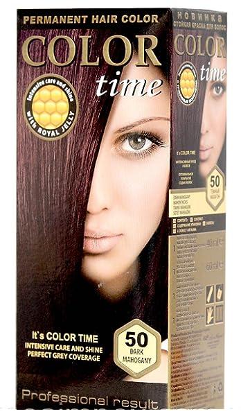 Color time, tinte permanente para el cabello de color caoba ...