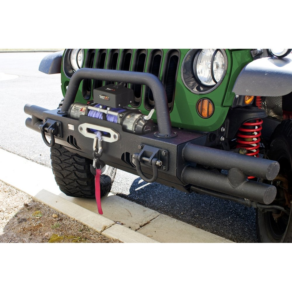 Rugged Ridge 11540.21 XHD Textured Black Front Bumper Tube End
