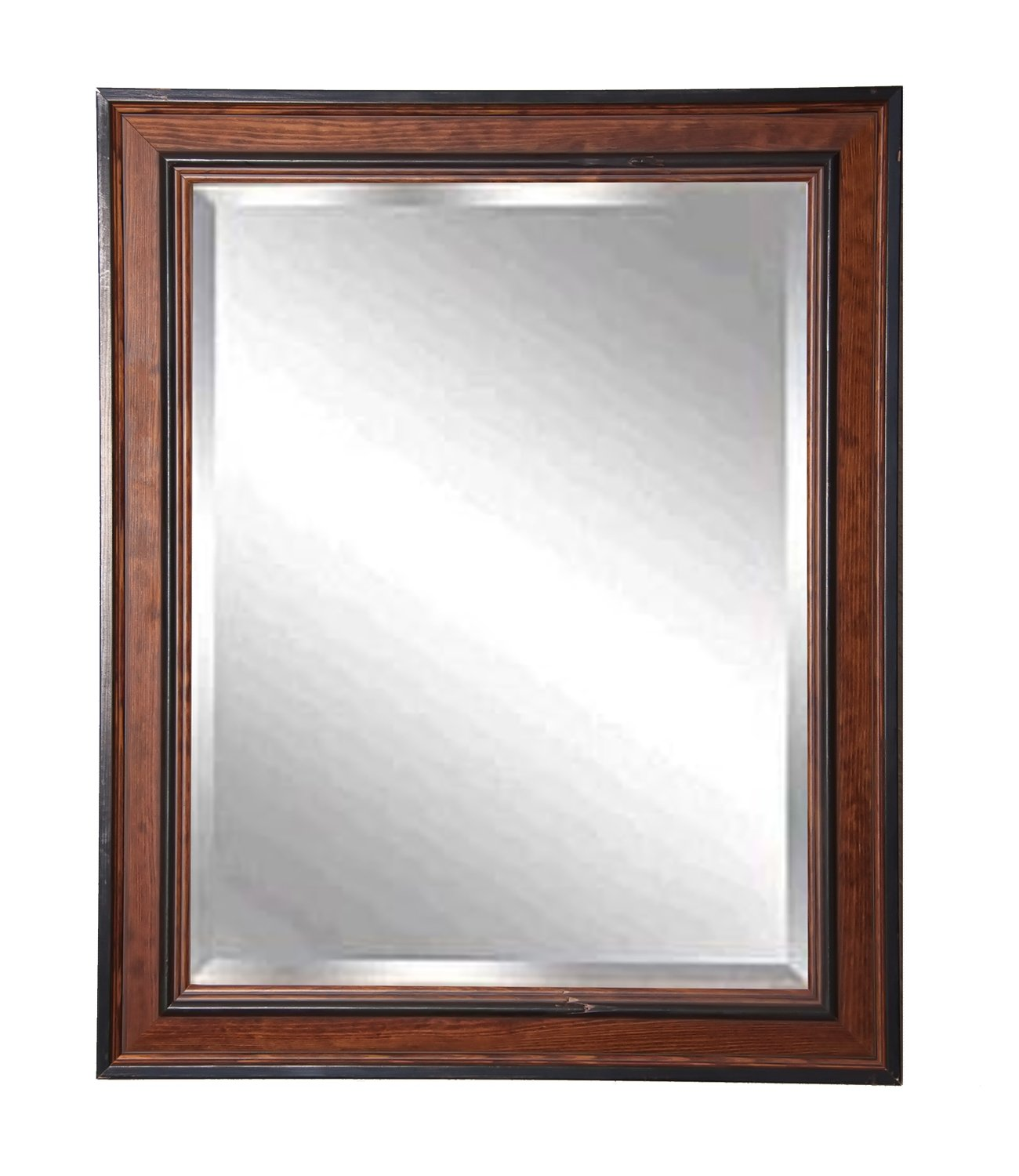 American Made Rayne Country Pine Beveled Wall Mirror, 30.5 x 36.5