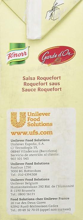 Knorr Garde DOr Salsa Roquefort líquida lista para usar brik 1L: Amazon.es: Alimentación y bebidas