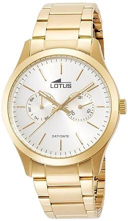 Lotus Reloj Analógico para Hombre de Cuarzo con Correa en Acero Inoxidable 15955/1: Amazon.es: Relojes