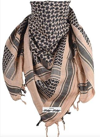 Activave - Bufanda militar 100% algodón Shemagh para hombre y mujer Marrón arena Taille unique: Amazon.es: Ropa y accesorios
