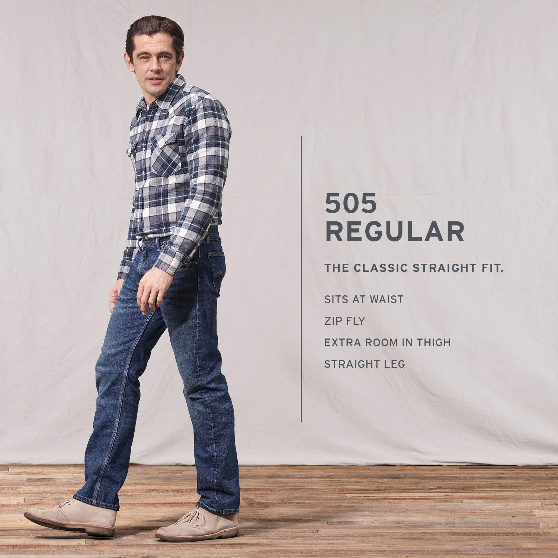 657b04a9264 Levi s¿ Mens Men s 505¿ Regular Dark Stonewash 35 32 at Amazon Men s  Clothing store