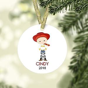 Toy Story Christmas Ornament Jessie Toy Story Christmas Ornament Cartoon Girls Christmas ornament personalized Christmas Ornaments 2020 Pandemic Xmas Decor Wedding Ornament Holiday present