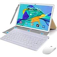 Tablet de 10 pulgadas Android 9.0, Quad Cable, 64 GB ROM 4 GB RAM 128 GB, Google Play, WiFi, GPS, cámaras, Dual SIM…