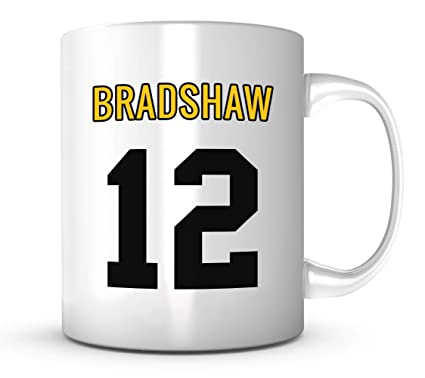 new style 702ad 962b5 Terry Bradshaw Mug - Jersey Number Football Coffee Cup at ...