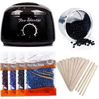Wax Warmer, Miss Gorgeous Professional Wax Warmer Hair Removal Kit for Women and Men, Upgraded Wax Heater with 4 Flavors Hard Wax Beans & 10 Big Wax Applicator Sticks & 5 Small Wax Applicator Sticks,Black