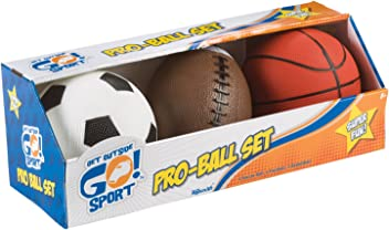 Toysmith Get Outside GO! Pro-Ball Set, Pack of 3 (5-
