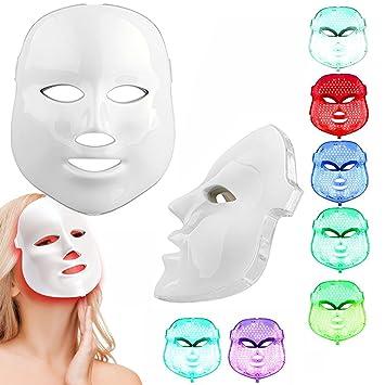 Weijin 7 color llevó máscara piel rejuvenecimiento facial máscara belleza facial peelings máquina diario cuidado de