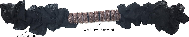 Twist n Twirl - Molde para moño con moño de tela, color negro ...