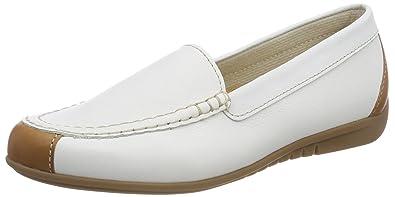Gabor Shoes Comfort Sport, Mocassins Femme, Blanc (Weiss), 42 EU