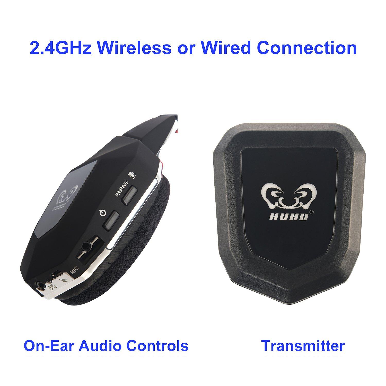 Amazon.com: HUHD Wireless Gaming Headset - Multiple Platform ...