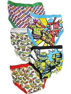 Amazon.com: Nickelodeon Big Boys Ninja Turtles Brief, 5 ...