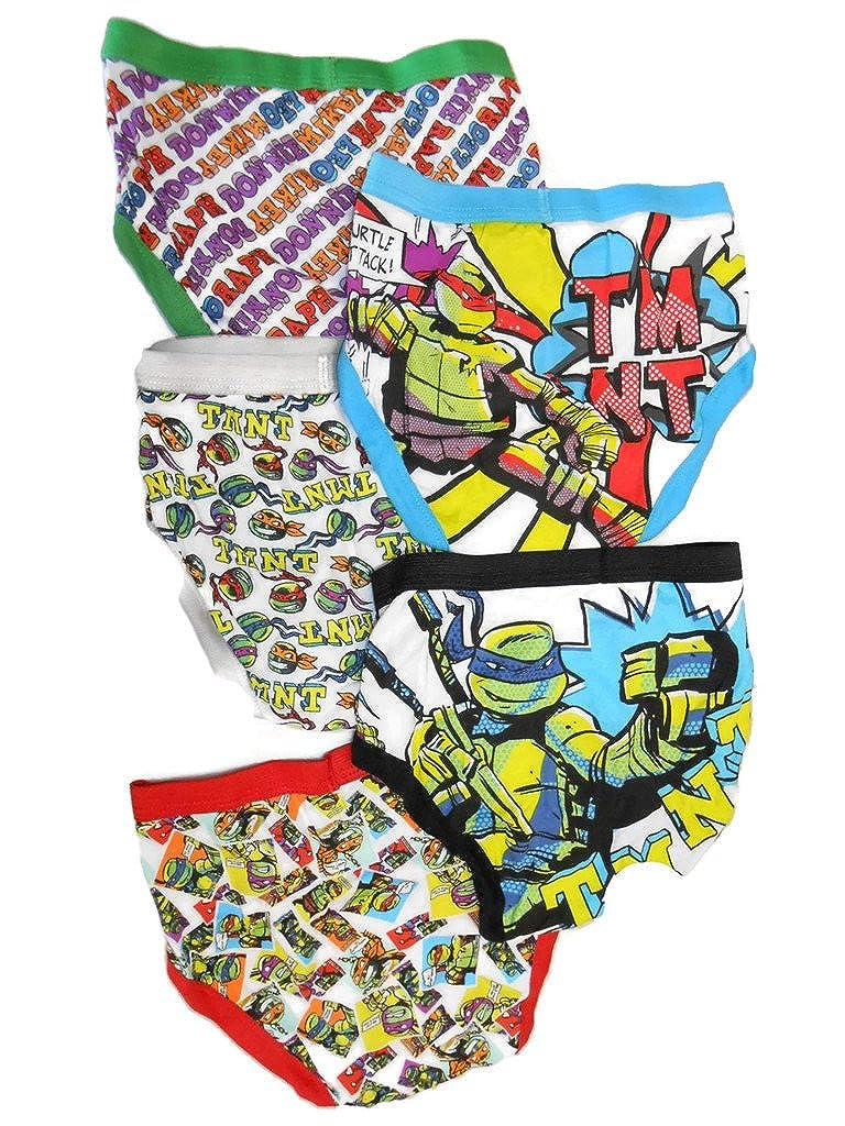 Nickelodeon Little Boys' Teenage Mutant Ninja Turtles Underwear, (Pack of 5) (Pack of 5) BUP6810