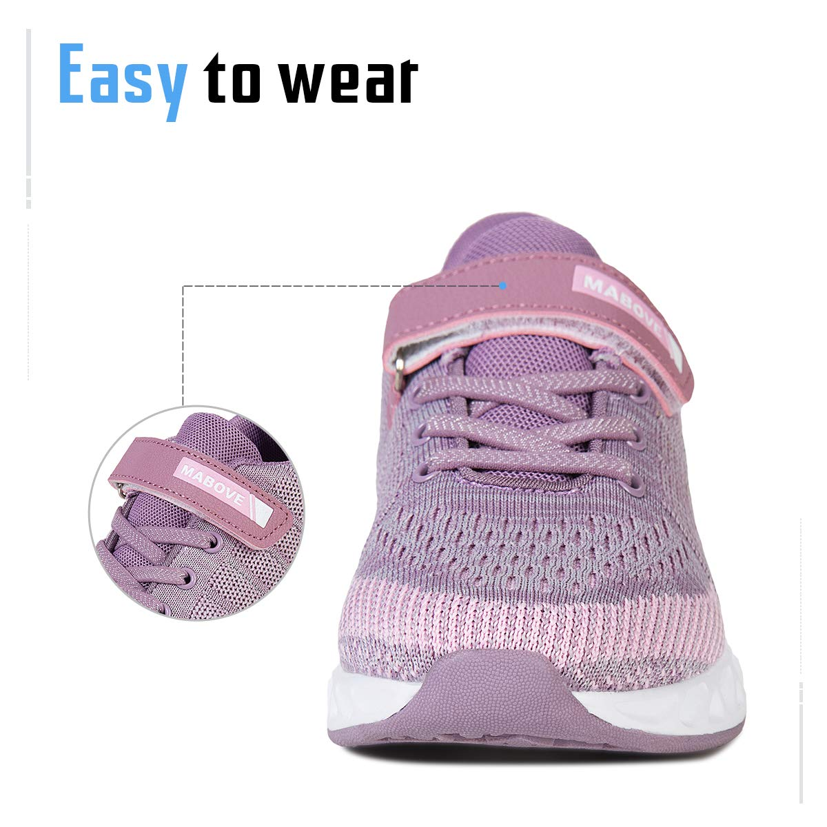 Kyopp Sports Shoes for Kids Athletic Trainers Boys and Girls Casual Running Shoes Slip on Sneakers Children Lightweight Breathable