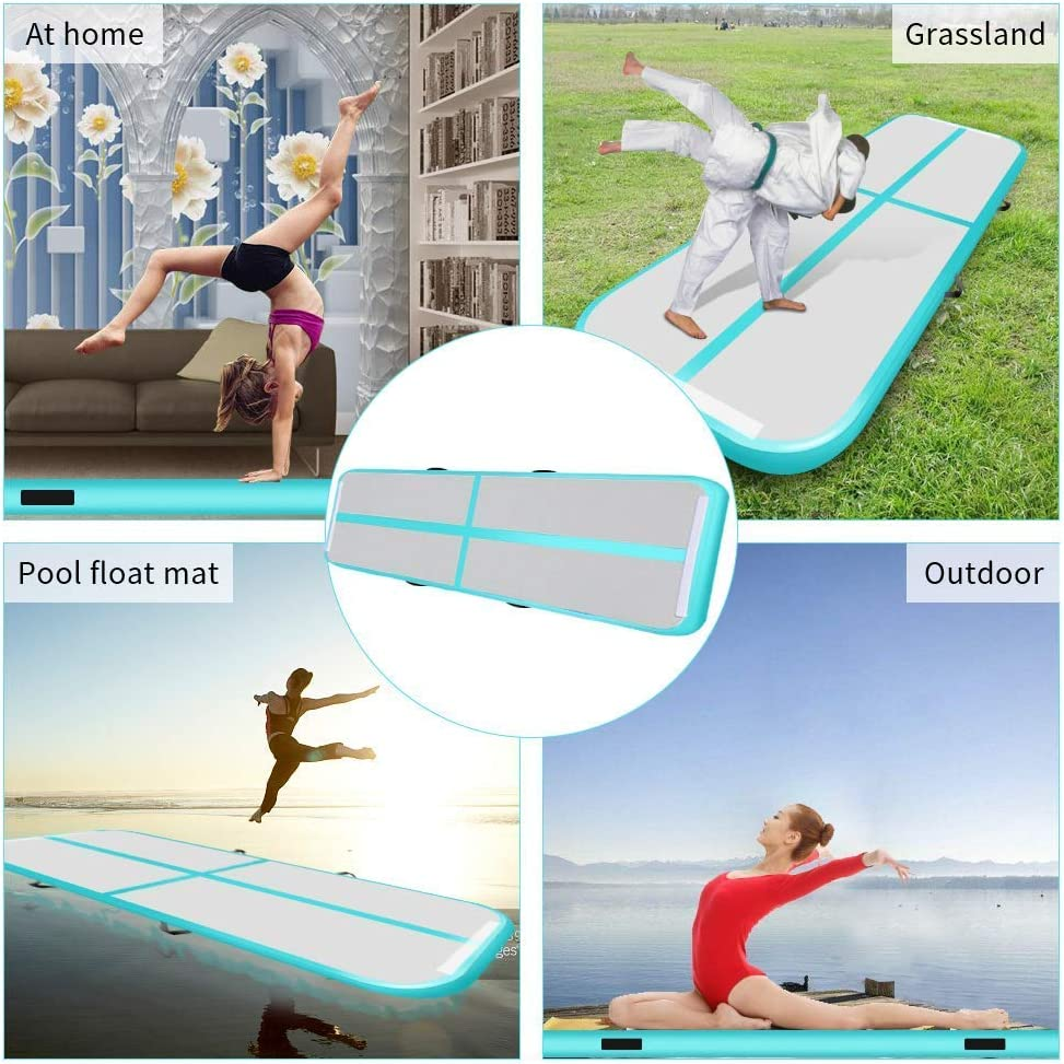 Hans/&Alice 4-inch 8-inch Tumbling Air Track Inflatable Gym Mat Training Air Floor