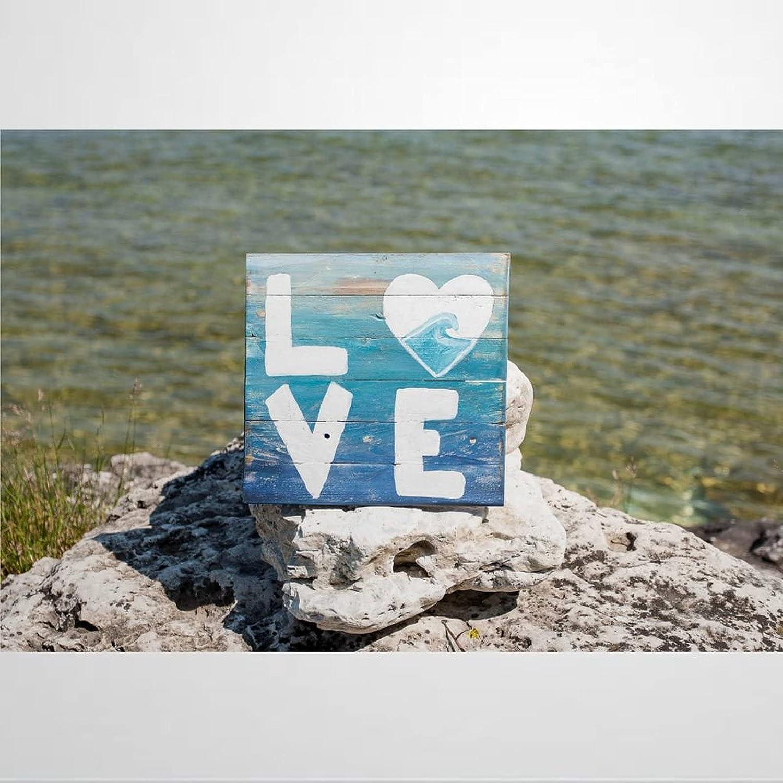 43LenaJon Ocean Love Beach Decor Ocean Decor Beach House Pallet Wood Sign Ocean Love Ombre Decor Seashore Beach Wood Sign Love Wood Sign Wooden Sign Wood Plaque Wall Art Wall Hanger Home Decor yp231