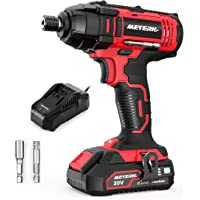 Deals on Meterk Impact Driver, 1600In-lbs 20V MAX Impact Drill