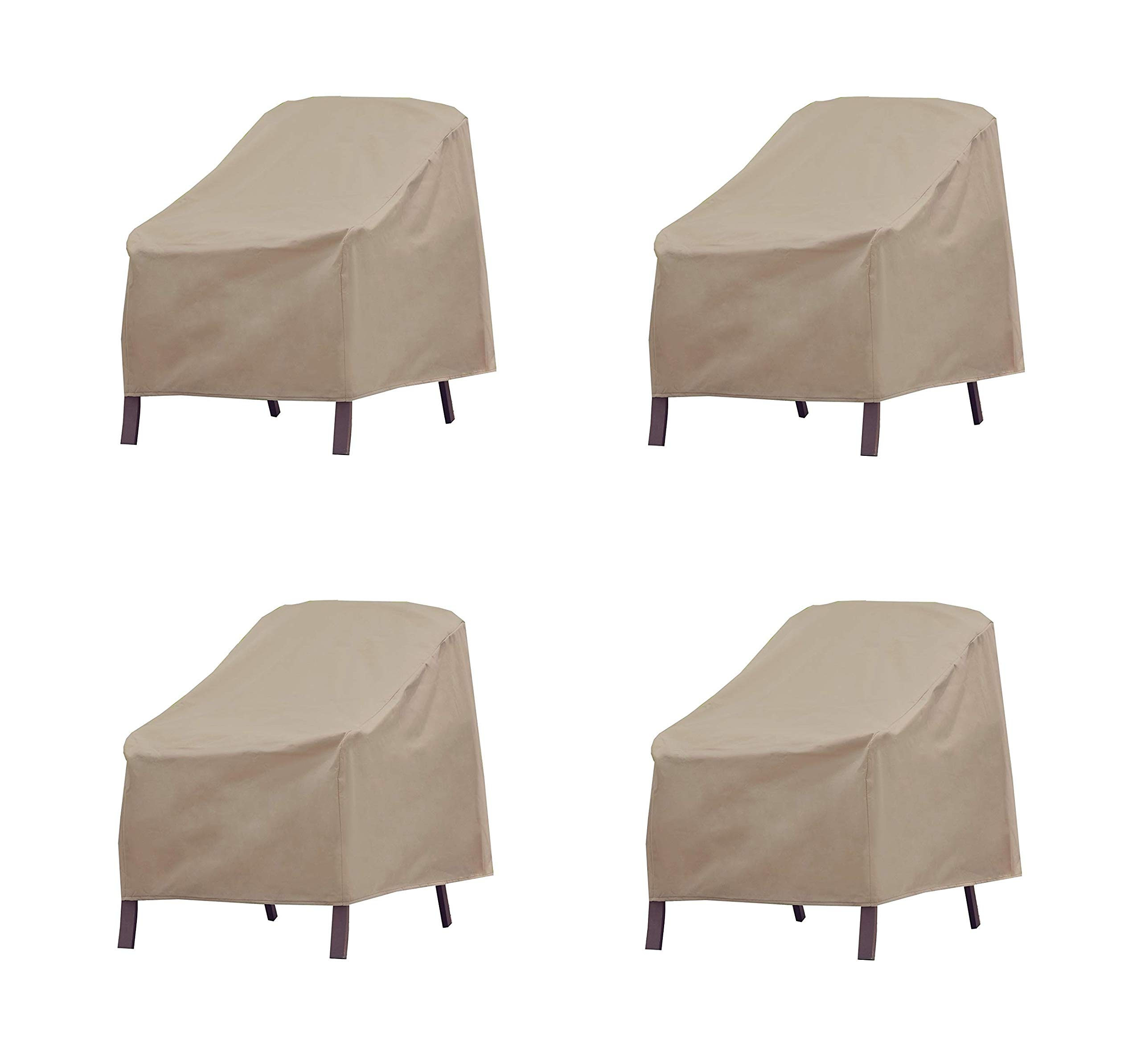 Modern Leisure Patio Furniture Chair Cover, Weather & Waterproof Patio Chair Cover (Pack of 4)