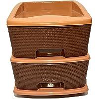 SROY ENTERPRISE Plastic Modular Basket Drawer Chest Storage Rack System Large Stomo Multi Purpose chest of Trolley…