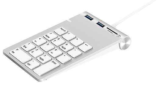 31 opinioni per Tastierino Numerico USB, Alcey Finitura in Alluminio Tastierino Numerico USB con