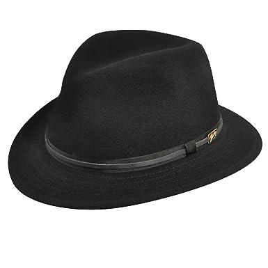 febcd11e Bailey of Hollywood Men Evans Litefelt Fedora Black M at Amazon Men's  Clothing store: